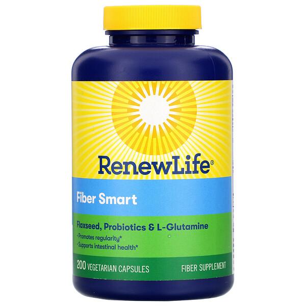 Renew Life, FiberSmart، 200 قرص نباتي