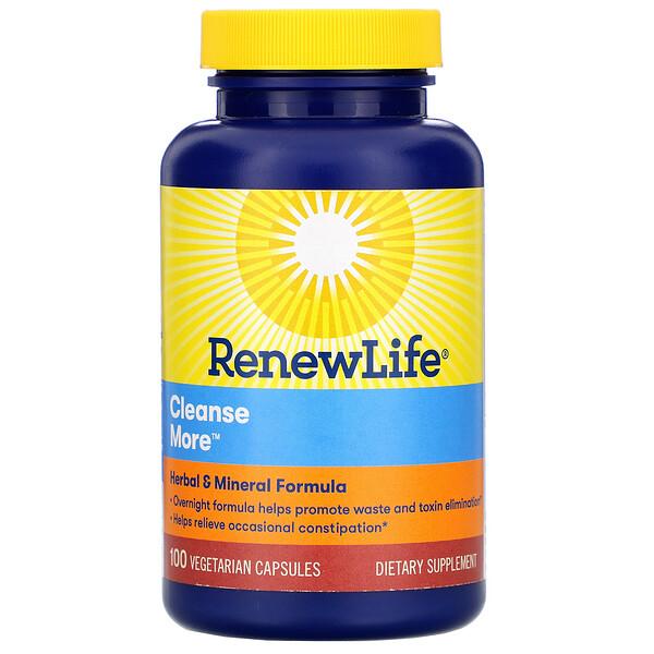 Renew Life, CleanseMore, 100 כמוסות צמחוניות