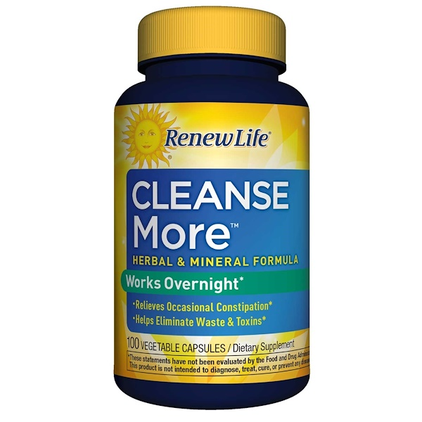 Renew Life, CleanseMore,100 粒素食膠囊