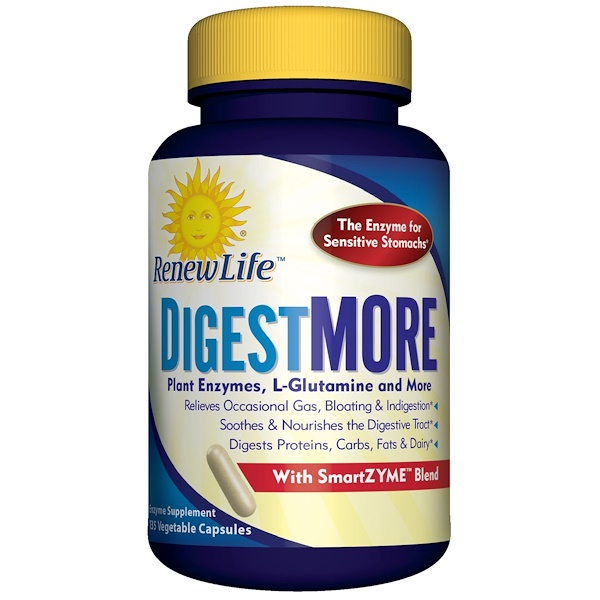 Renew Life, DigestMore, 135 Vegetable Capsules (Discontinued Item)