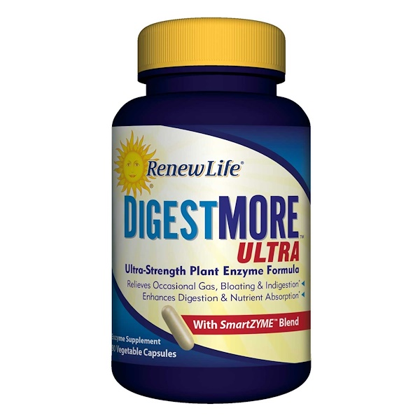 Renew Life, DigestMore Ultra, 90 cápsulas vegetarianas (Discontinued Item)