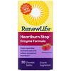 Renew Life, Heartburn Stop, Raspberry Flavor, 30 Chewable Tablets