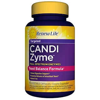 Renew Life, CandiZyme, Targeted , 90 Vegetable Capsules