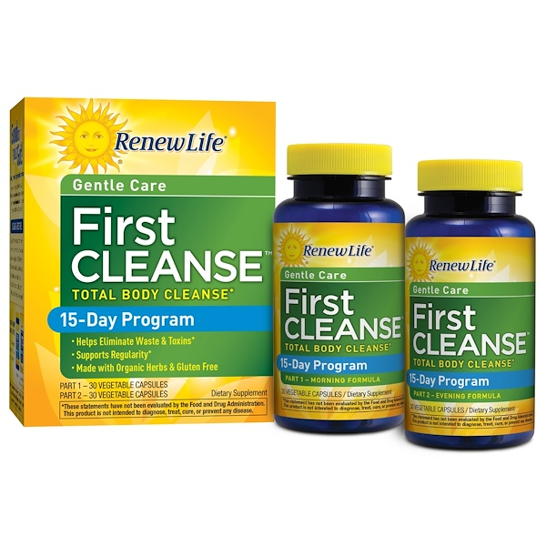 Renew Life, Gentle Care, First Cleanse, 2 Bottles, 30 Vegetable Capsules Each