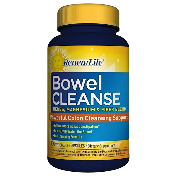 Renew Life, Bowel Cleanse, 150 Vegetable Capsules