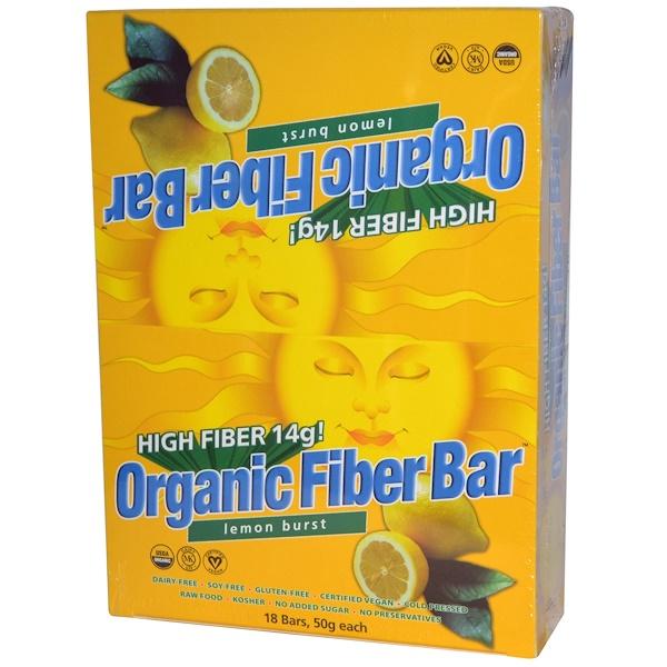 Renew Life, Organic Fiber Bar, Lemon Burst, 18 Bars, 50 g Each (Discontinued Item)