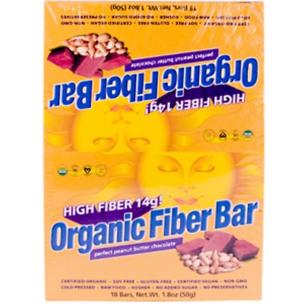 Renew Life, Organic Fiber Bar, Perfect Peanut Butter Chocolate, 18 Bars, 1.8 oz (50 g) Each (Discontinued Item)