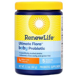 Renew Life, Ultimate Flora Baby Probiotic, 4 Billion Live Cultures, 2.1 oz (60 g)