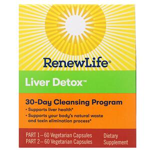 Ренев Лифе, Liver Detox, 30-Day Cleansing Program, 2 Bottles, 60 Vegetarian Capsules Each отзывы покупателей