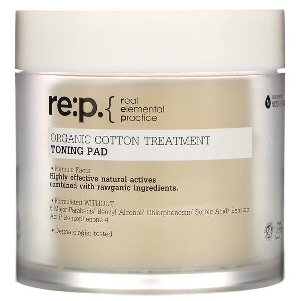 Organic Cotton Treatment, Toning Pad, 90 Pads, 4.39 fl oz (130 ml)