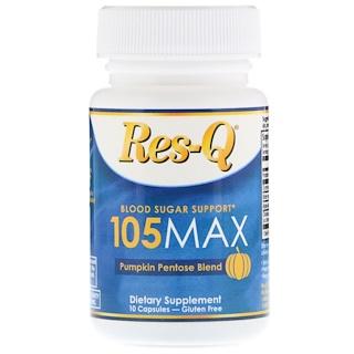 Res-Q, 105МАКС, средство для поддержания уровня сахара в крови, состав на основе пентоз тыквенного происхождения, 10 капсул