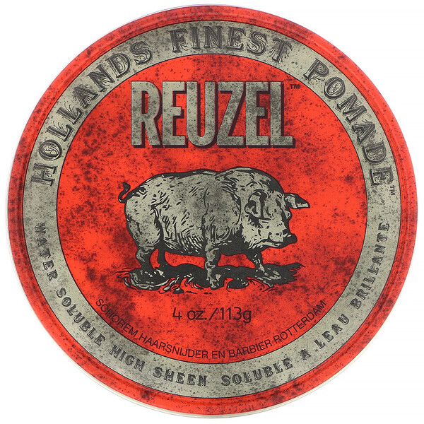 Reuzel, Red Pomade, Water Soluble, Medium Hold, 4 oz (113 g)