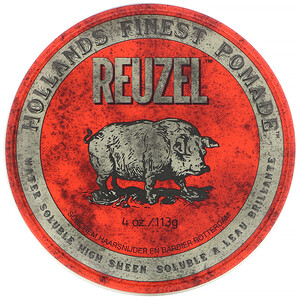 Reuzel, Red Pomade, Water Soluble, Medium Hold, 4 oz (113 g) отзывы