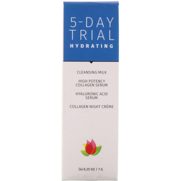 Reviva Labs, 5-Day Trial, Hydrating, 4 Piece Kit, 0.25 oz (7 g) Each (Discontinued Item)