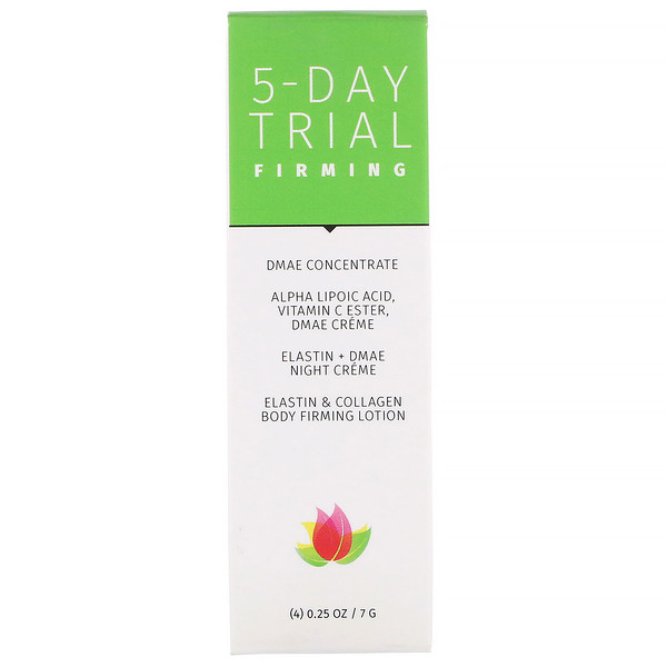 Reviva Labs, 5-Day Trial, Firming, 4 Piece Kit, 0.25 oz (7 g) Each (Discontinued Item)
