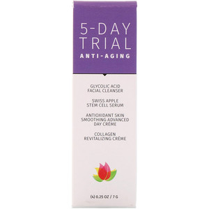 Ревива Лабс, 5-Day Trial Kit, Anti-Aging, 4 Piece Kit, 0.25 oz (7 g) Each отзывы покупателей