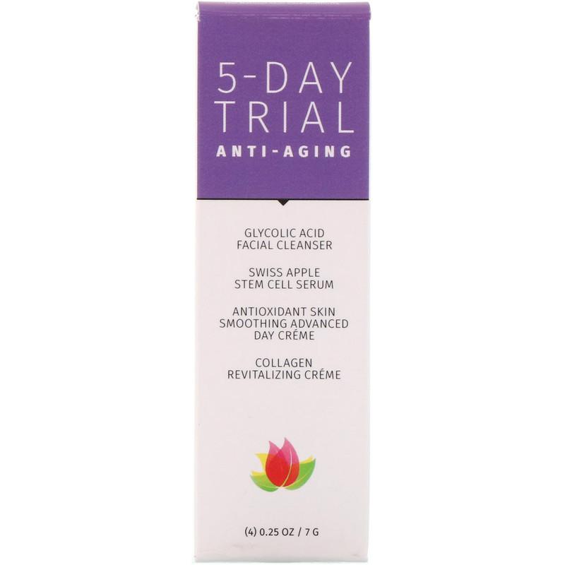 5-Day Trial Kit, Anti-Aging, 4 Piece Kit, 0.25 oz (7 g) Each