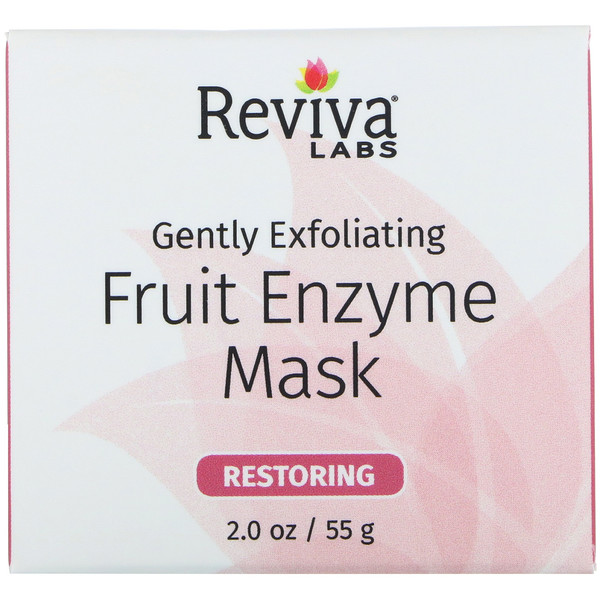 Reviva Labs, Gently Exfoliating, Fruit Enzyme Mask, 2.0 oz (55 g)