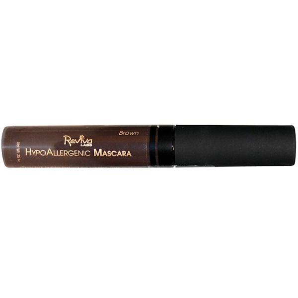 Reviva Labs, HypoAllergenic Mascara, Brown, .25 oz