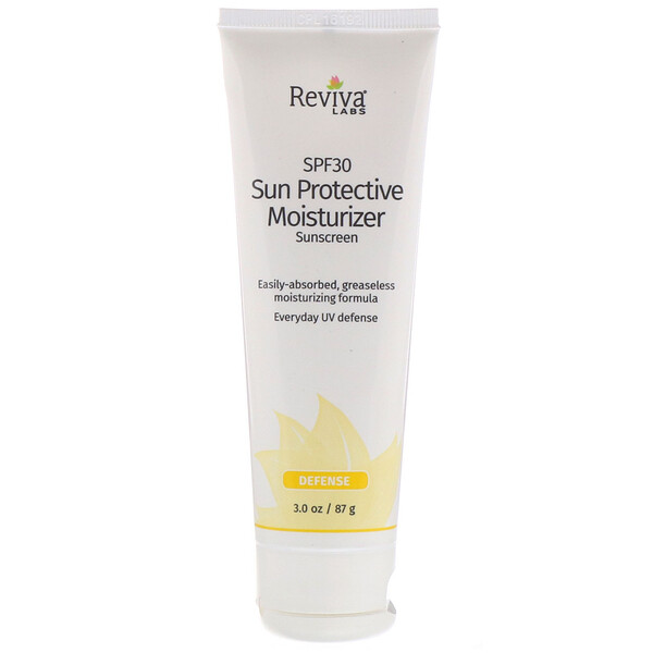 Reviva Labs, Sun Protective Moisturizer Sunscreen, SPF 30, 3.0 oz (87 g) (Discontinued Item)
