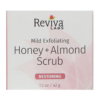 Reviva Labs, Honey + Almond Scrub, 1.5 oz (42 g)