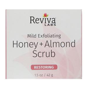 Ревива Лабс, Honey + Almond Scrub, 1.5 oz (42 g) отзывы покупателей