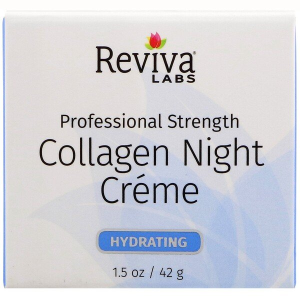 Reviva Labs, Collagen Night Creme, 1.5 oz (42 g)