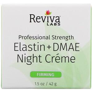 Reviva Labs, Эластин + DMAE ночной крем, 1,5 унц. (42 г) инструкция, применение, состав, противопоказания