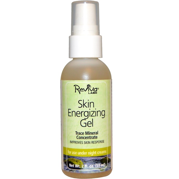 Reviva Labs, Skin Energizing Gel, Trace Mineral Concentrate, 2 fl oz (59 ml) (Discontinued Item)