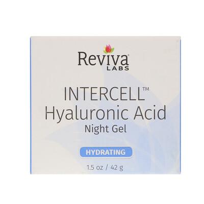 InterCell, гиалуроновая кислота, ночной увлажняющий гель, 1, 5 унц. (42 г)  - купить со скидкой