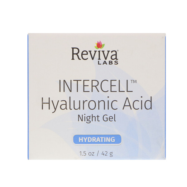InterCell, Hyaluronic Acid Night Gel, Hydrating, 1.5 oz (42 g)