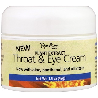 Reviva Labs, Throat & Eye Cream, 1.5 oz (41 g)