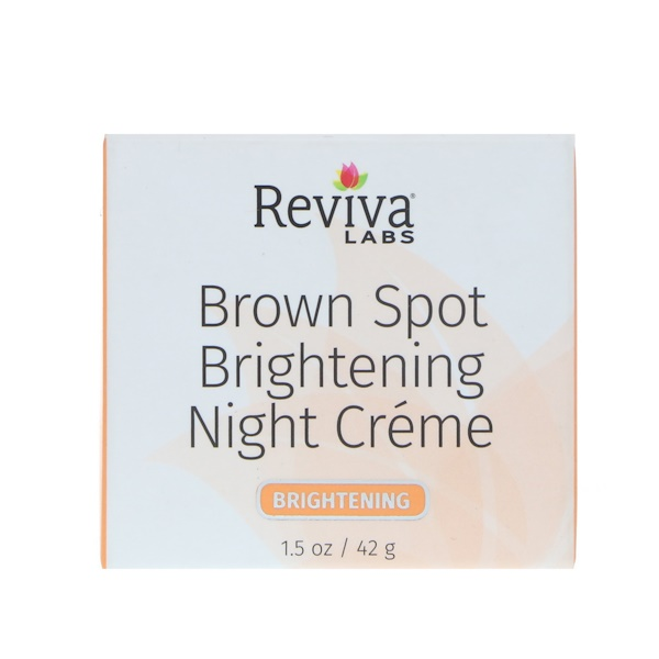 Reviva Labs, シミ美白ナイトクリーム、1.5 oz (42 g) (Discontinued Item)