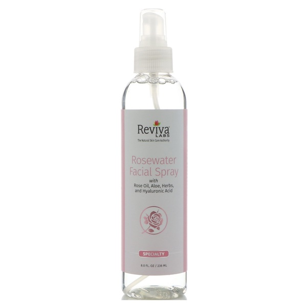 Reviva Labs, Spray à l'eau de rose pour le visage, 8 oz (236 ml)