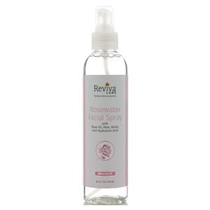 Reviva Labs, Розовая вода-спрей для лица, 8 унц. (236 мл) инструкция, применение, состав, противопоказания