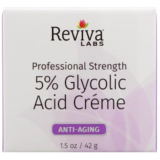 Reviva Labs, 5%グリコール酸クリーム、アンチエイジング、1.5オンス (42 g)