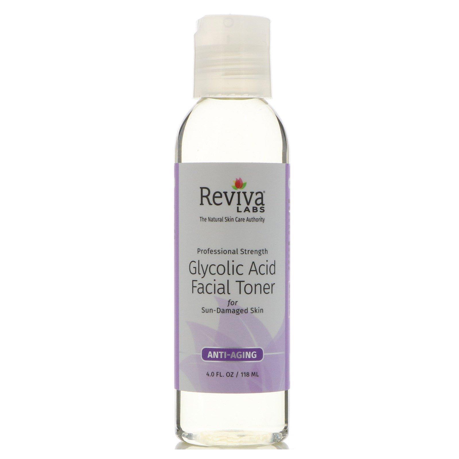 Reviva Labs, Тоник для лица с гликолиевой кислотой, 4 унции (118 мл)