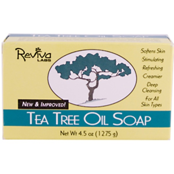 Reviva Labs, Tea Tree Oil Soap, 4.5 oz (127.5 g) (Discontinued Item)