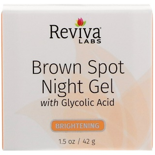Reviva Labs, Brown Spot Night Gel, with Glycolic Acid, 1.5 oz (42 g)
