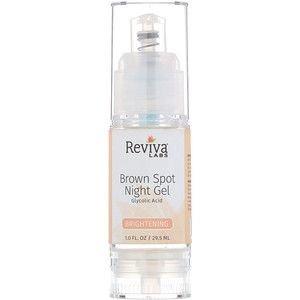 Ревива Лабс, Brown Spot Night Gel, Glycolic Acid, Brightening, 1.0 fl oz (29.5 ml) отзывы покупателей