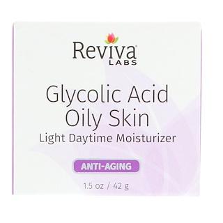 Reviva Labs, Glycolic Acid Oily Skin, Light Daytime Moisturizer, 1.5 oz (42 g)