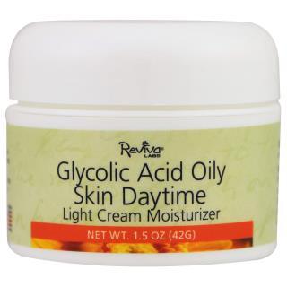 Reviva Labs, Glycolic Acid Oily Skin, Daytime, 1.5 oz (42 g)