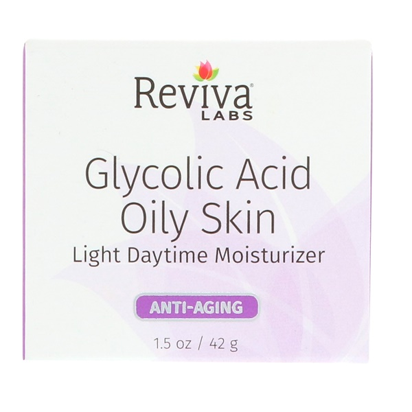 Reviva Labs, Glycolic Acid Oily Skin, Light Daytime Moisturizer, 1.5 oz (42 g) (Discontinued Item)