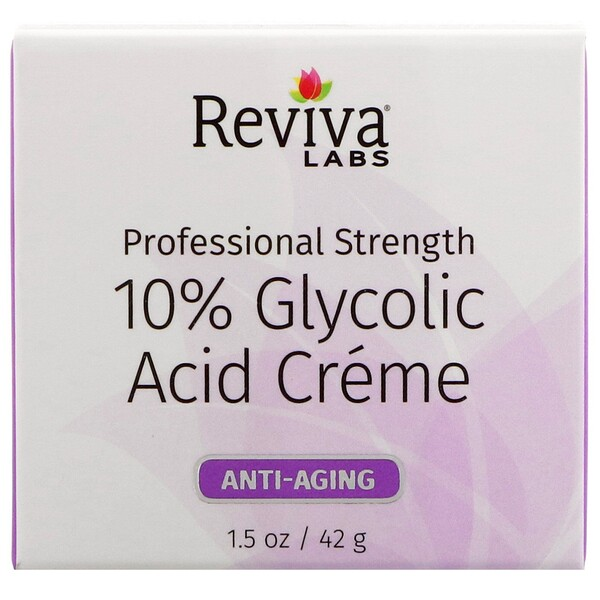 10% Glycolic Acid Cream, Anti-Aging, 1.5 oz (42 g)