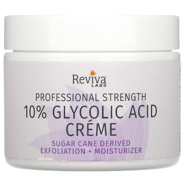 Reviva Labs, 10% Glycolic Acid Cream, Anti-Aging, 2.0 oz (55 g)