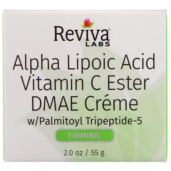 Reviva Labs, Alpha Lipoic Acid, Vitamin C Ester & DMAE Cream, 2 oz (55 g)