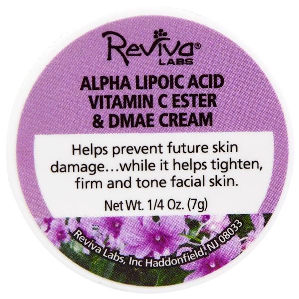 Reviva Labs, Alpha Lipoic Acid Vitamin C Ester & DMAE Cream, 1/4 oz (7 g) (Discontinued Item)