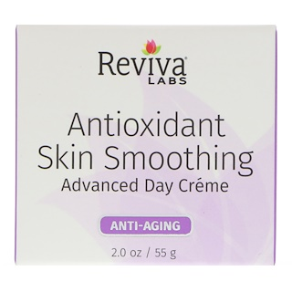 Reviva Labs, Antioxidant Skin Smoothing, Advanced Day Cream, Anti-Aging, 2 oz (55 g)