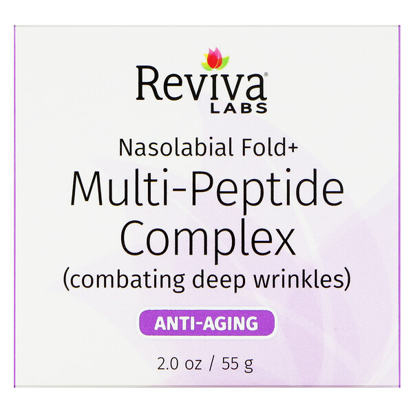 Reviva Labs, Complejo Nasolabial Fold + Multipéptidos, 2 oz (55 g)