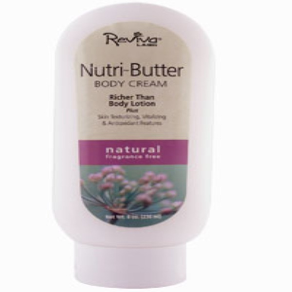 Reviva Labs, Nutri - Butter Body Cream, Natural, Fragrance Free, 8 oz (236 ml) (Discontinued Item)